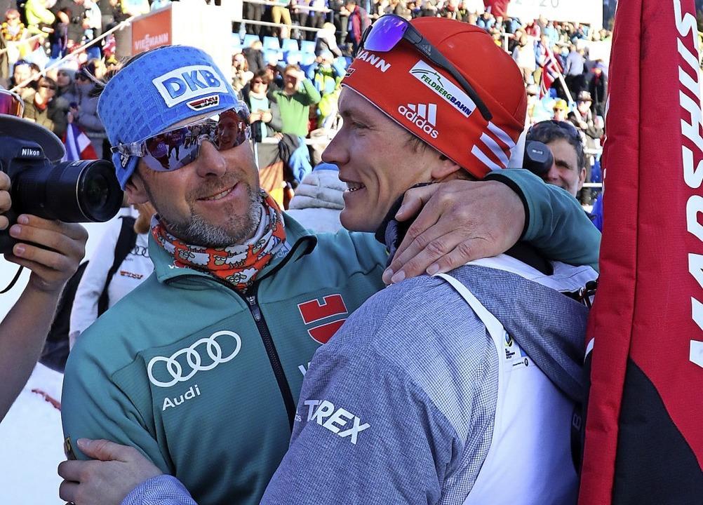 Biathlon-Bundestrainer Mark Kirchner t...frunde und fiel auf Rang drei zurück.   | Foto: Joachim Hahne