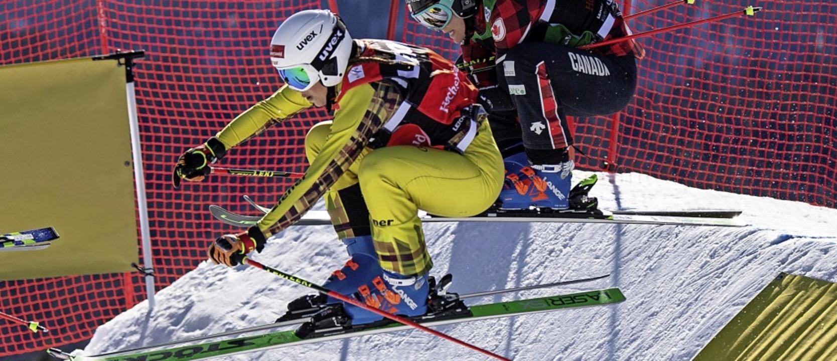 Furchtlos im Angriffsmodus: Skicrosser...aier fuhr in Russland auf Rang drei.    | Foto: Patrick Seeger