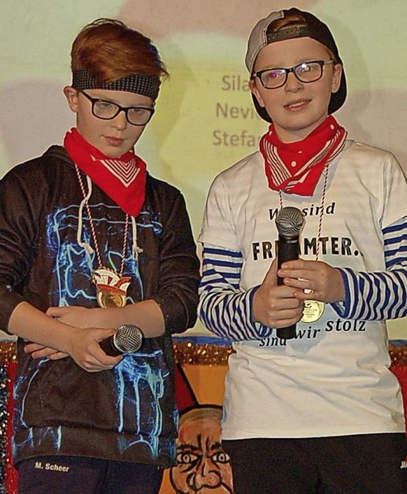 Die Brüder Silas (rechts) und Nevio  | Foto: Christian Ringwald