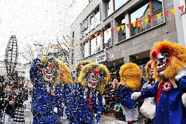 Umzug in Lörrach: Gewusel mit Hase, Bär, Reh und Frosch