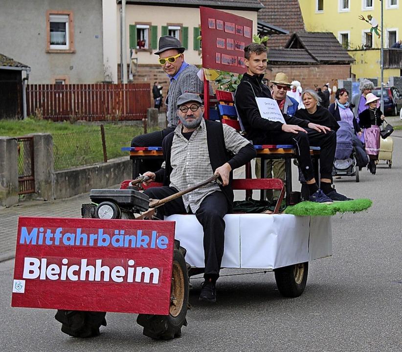 Ein Mitfahrerbänkle für Bleichheim  | Foto: Annika Sindlinger