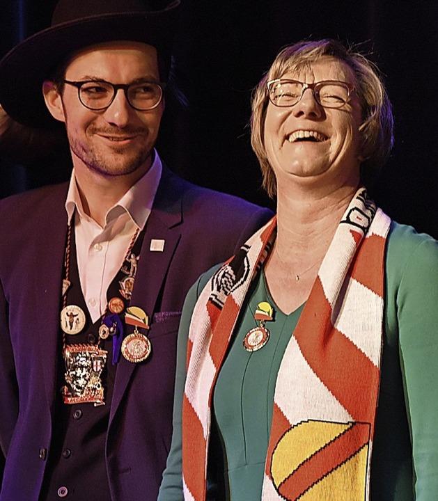 Martin Horn und Edith Sitzmann  | Foto: Rita Eggstein