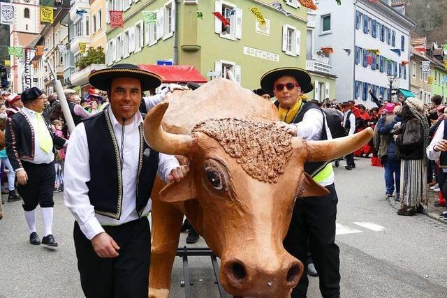 Die Narren verwandeln Zell in eine Stadt der Klimaaktivisten und Stierkämpfer