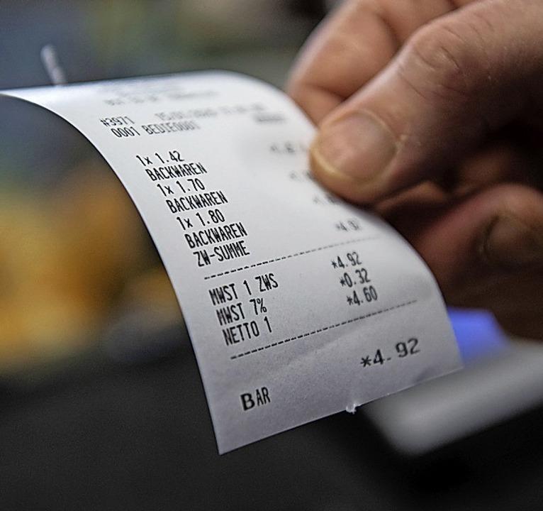 Kleine Einkäufe ohne Kassenzettel?  | Foto: Marijan Murat (dpa)