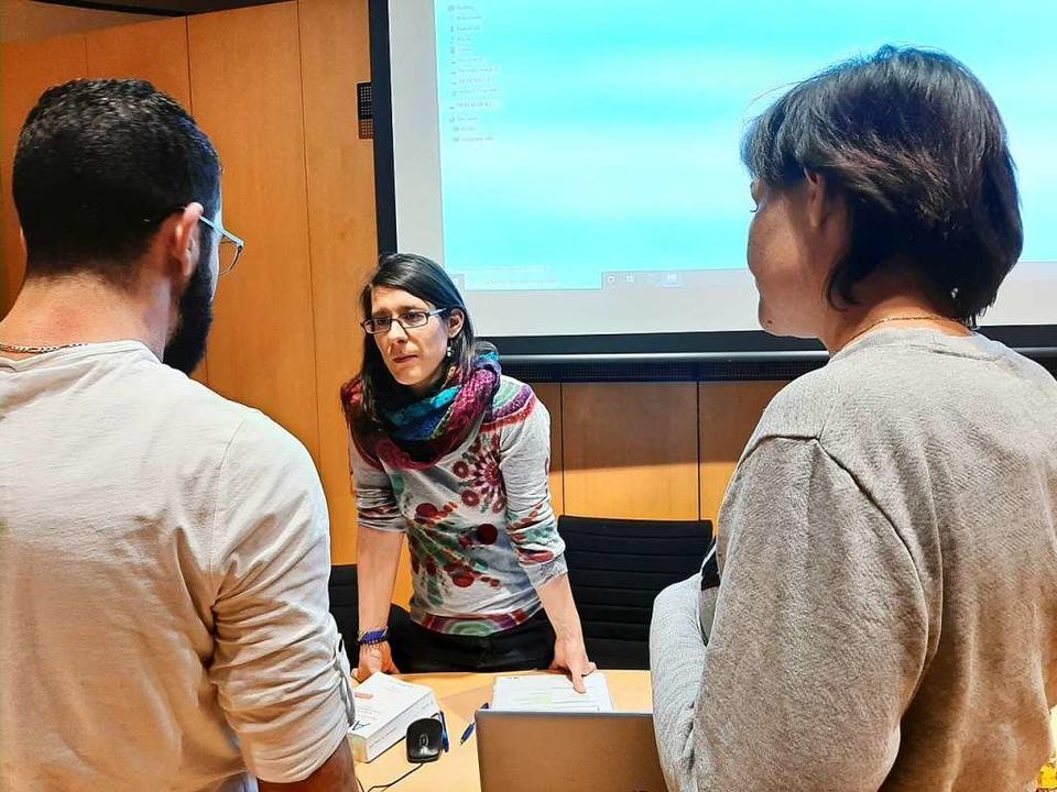 Melanie Skiba  war  willkommene Ansprechpartnerin für einen Flüchtling.  | Foto: Ingrid Jennert