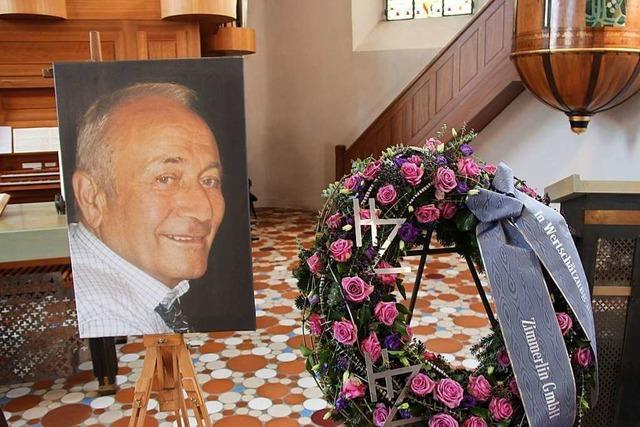 Bötzingen nimmt Abschied von Heinrich Zimmerlin