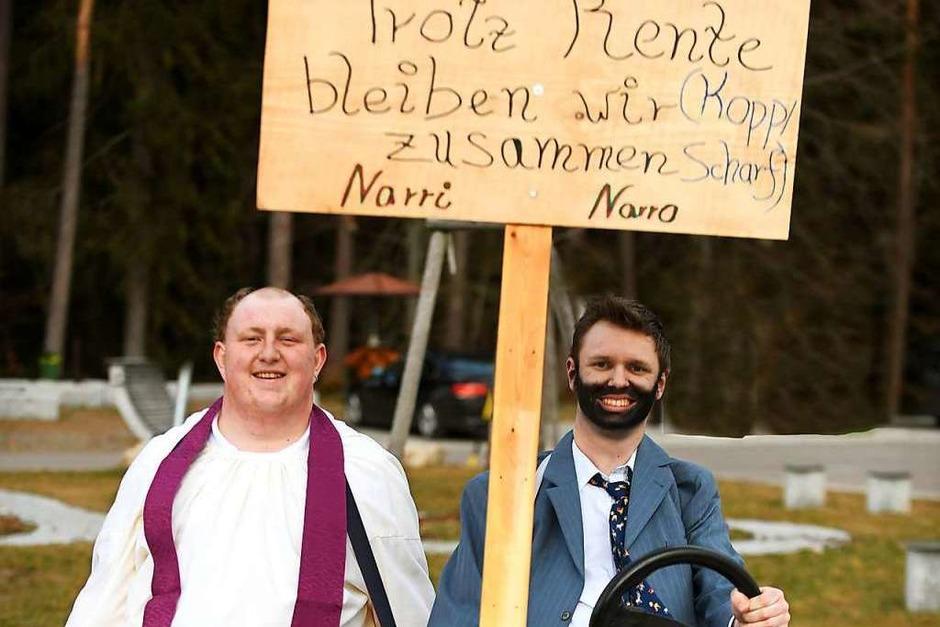 Pfarrer Kopp und Bürgermeister Scharf (Foto: Wolfgang Scheu)