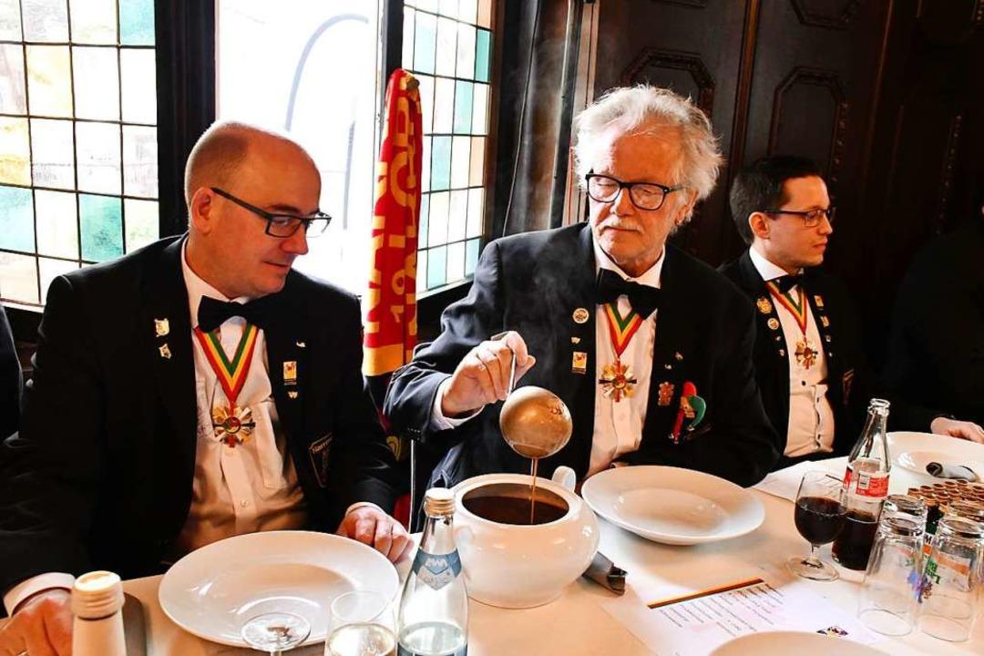 Die Zunftmeister Thomas Wagner, Ralf und Philipp Buser (von links)    Foto: Barbara Ruda