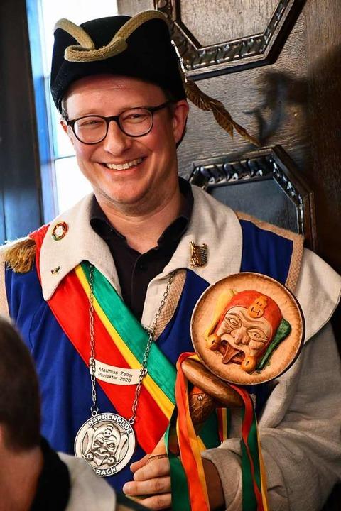 Protektor Matthias Zeller verabschiedet sich von der Fasnet.    Foto: Barbara Ruda