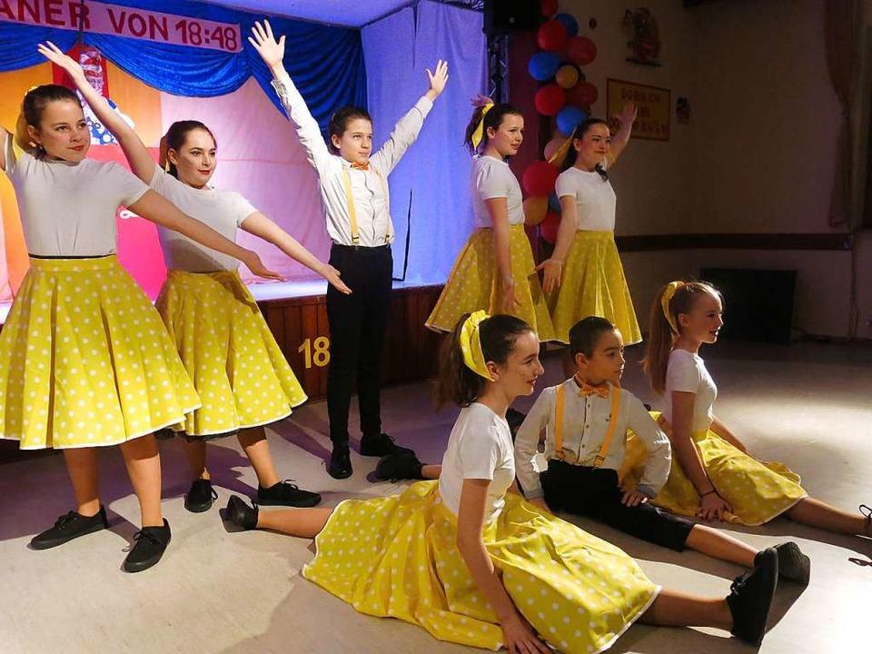 Der Tänzernachwuchs ist gesichert – Auftritt der Lafri-Teens    Foto: Georg Voß