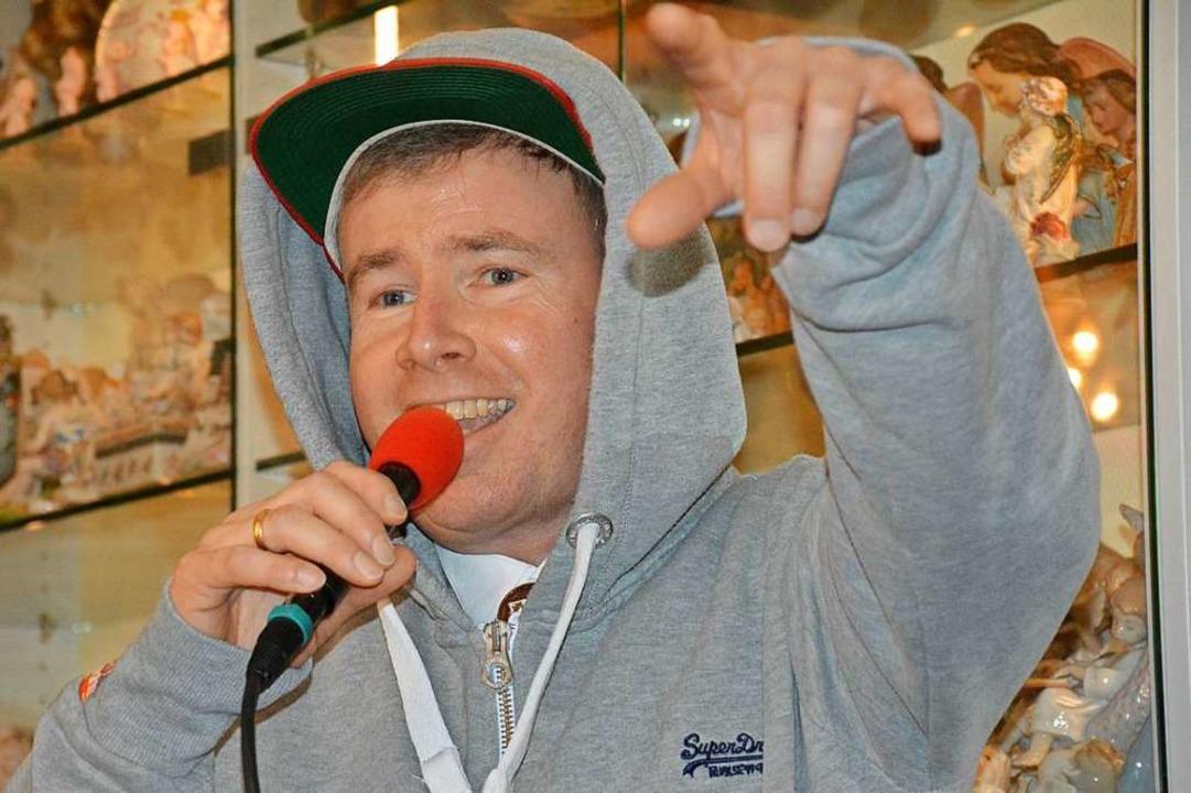 Dietmar Fuchs als Rapper    Foto: Hannes Lauber