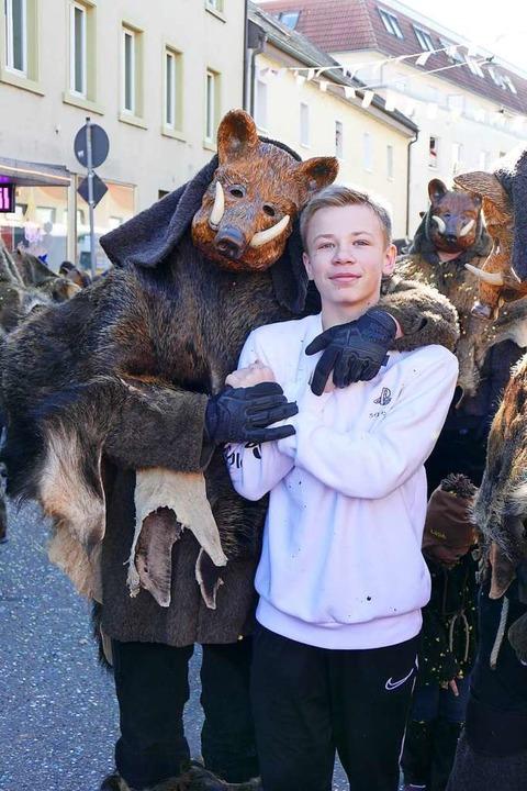 Geister, Dämonen und wilde Tiere besti...ld am Fasnachtsmäntig in Bad Säckingen  | Foto: Axel Kremp