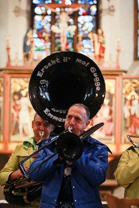Statt Orgelklängen gab es Guggemusik zu hören.    Foto: Patrik Müller