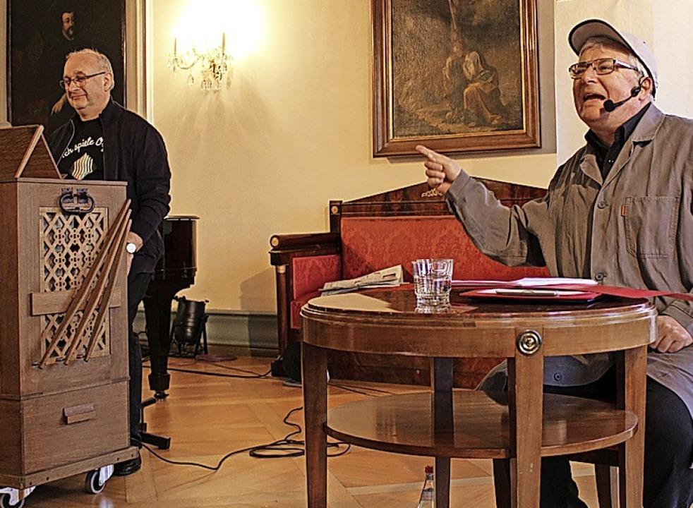Wolfgang Kreuzhuber (links) und  Rudolf Habringer in St. Peter   | Foto: Erich Krieger