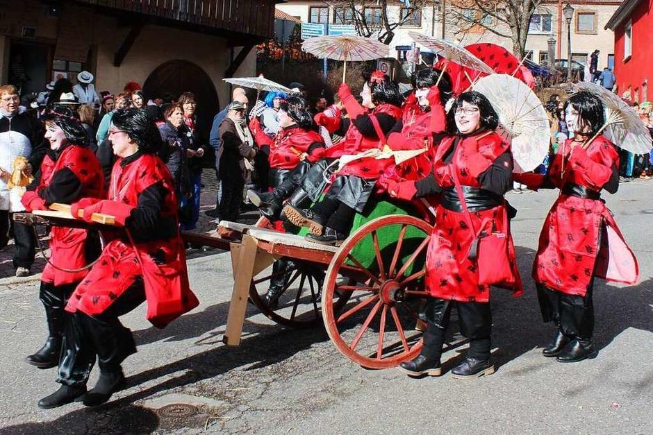 Der Geisha-(H)express der Hexenfrauen (Foto: Christa Maier)