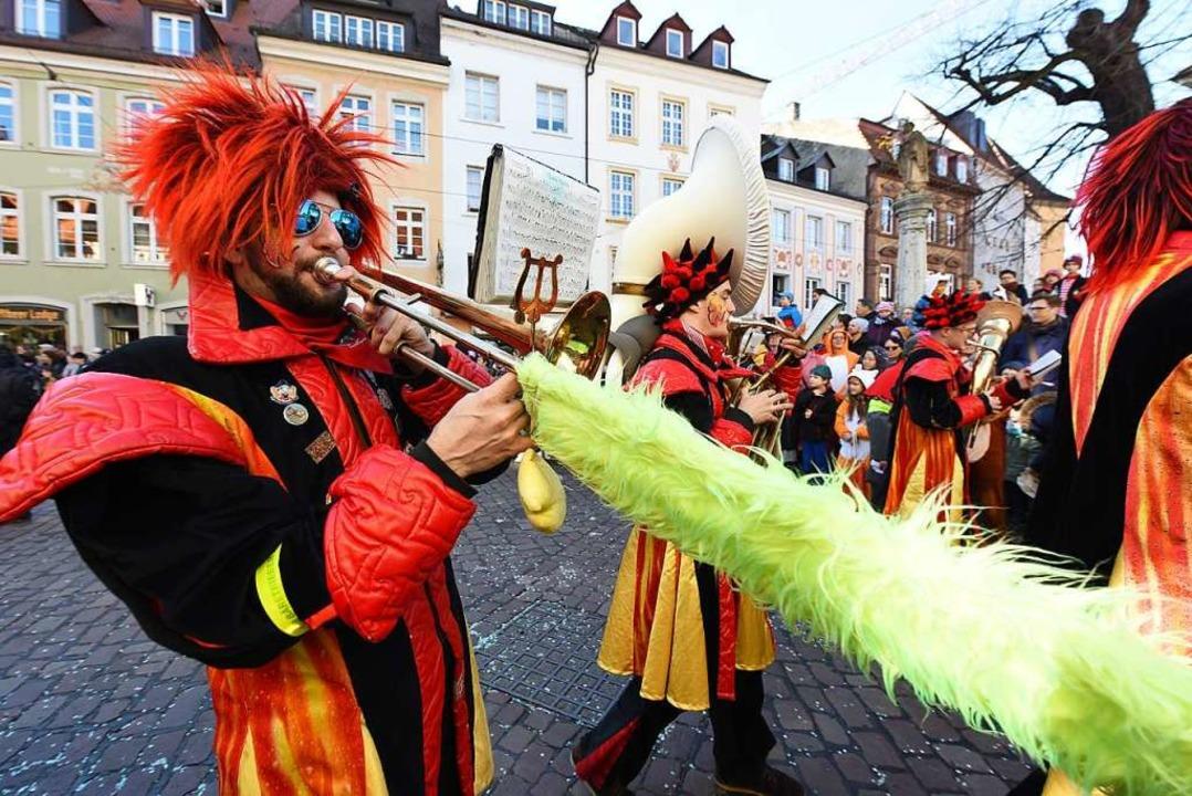 Feuer frei für den Musikzug der Freiburger Wehr  | Foto: Rita Eggstein