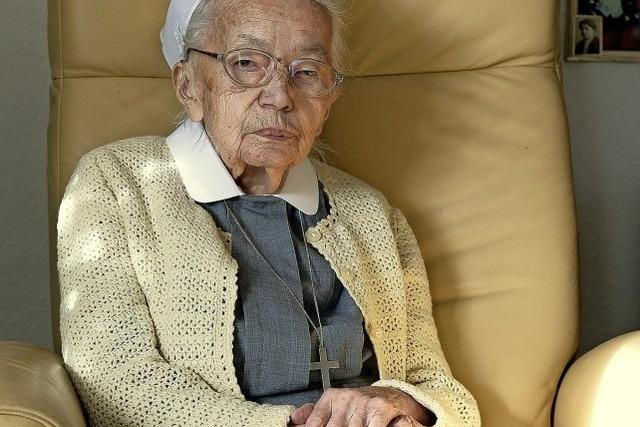 Schwester Luise Luhr feiert ihren100. Geburtstag