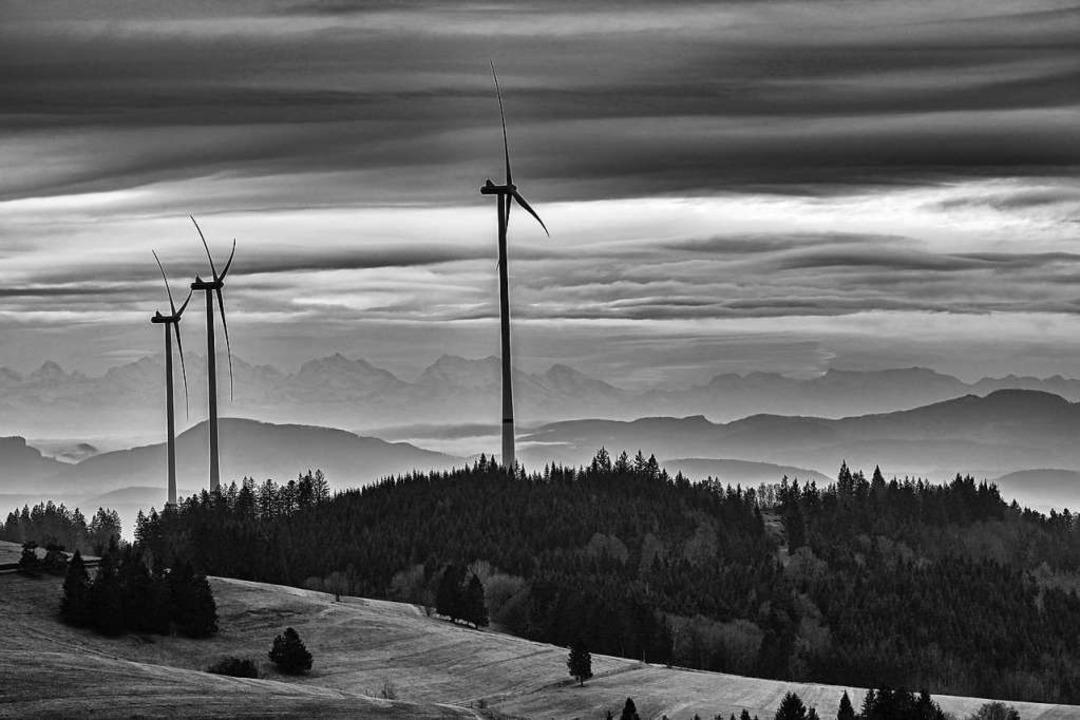 Windradpanorama Richtung Wehr.  | Foto: Gerd Gaenzle