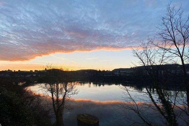 Sonnenaufgang in Rheinfelden