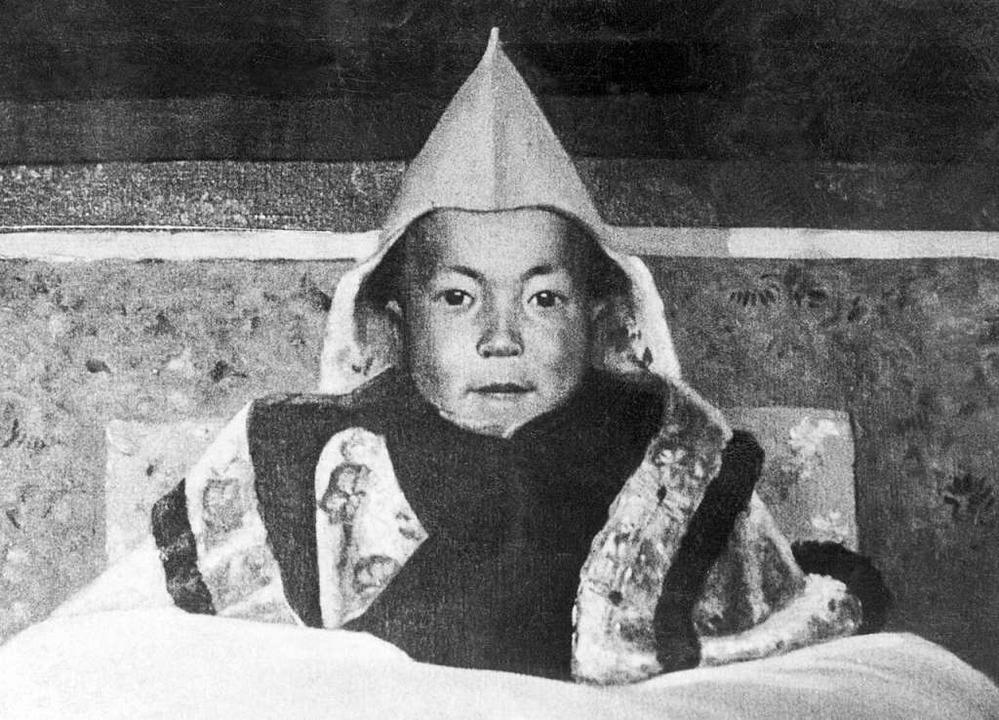 Dieses Gemälde zeigt den Dalai Lama als Kind.  | Foto: KANWAL KRISHNA