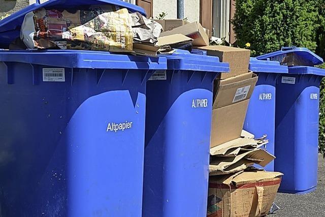 Blaue Tonne bleibt im Landkreis Waldshut kostenlos