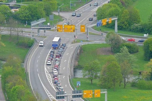 A-98-Anschlussstelle Lörrach-Mitte wird von Donnerstag auf Freitag nachts gesperrt