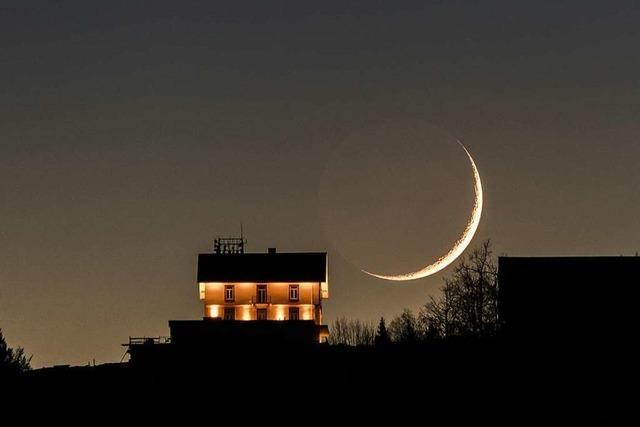 Der Mond geht unter am Hochblauen