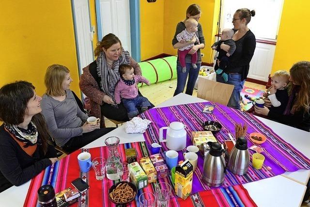 Vorbereitungen auf das Elterncafé laufen