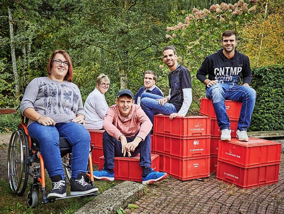 Die Spendenaktion für die Lebenshilfe ...Geld für die Außenbereichsgestaltung.   | Foto: PATRICK_WERNER