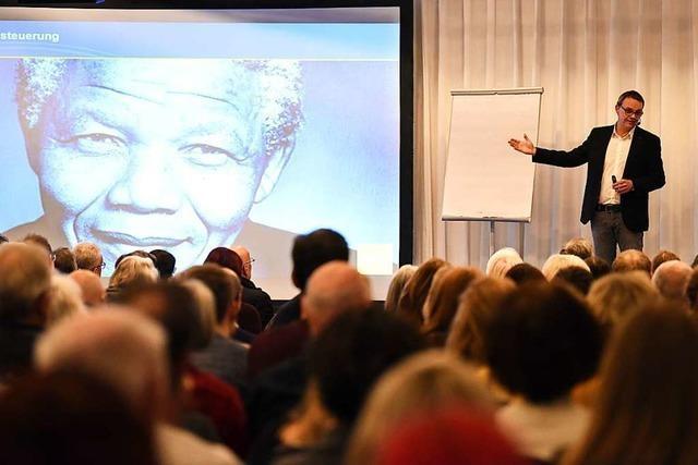 Psychologe Denis Mourlane sprach beim BZ-Wissensforum über Resilienz