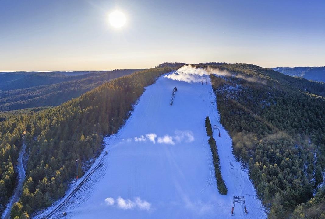 Nur an wenigen Tagen in diesem Winter ...ckle eine halbwegs dichte Schneedecke.    Foto: spether