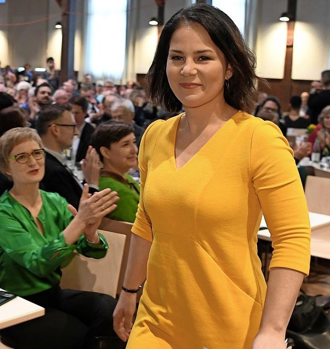Eine mögliche grüne Kanzlerkandidatin: Annalena Baerbock  | Foto: Felix Kästle