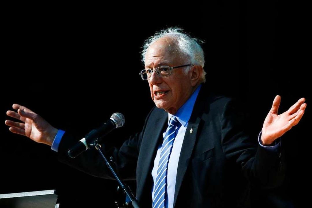 Bernie Sanders ist plötzlich zum Favor...e Präsidentschaftskandidatur geworden.  | Foto: Matt Rourke (dpa)