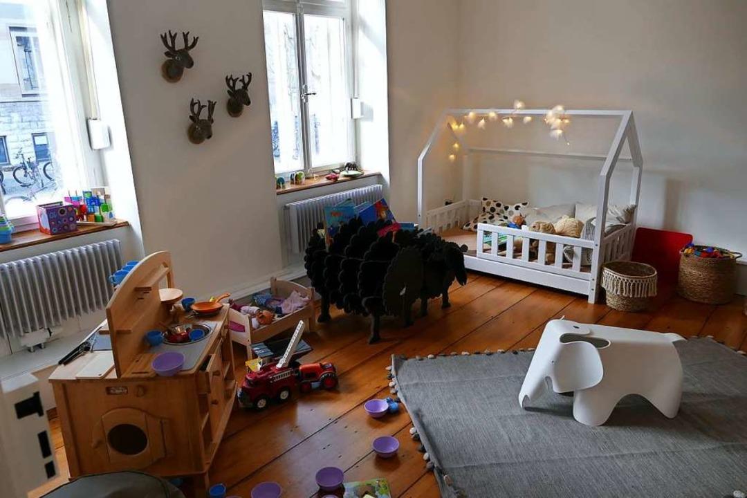 Das Spielzimmer für die Kleinen im Café des Familienzentrums.  | Foto: Nina Witwicki