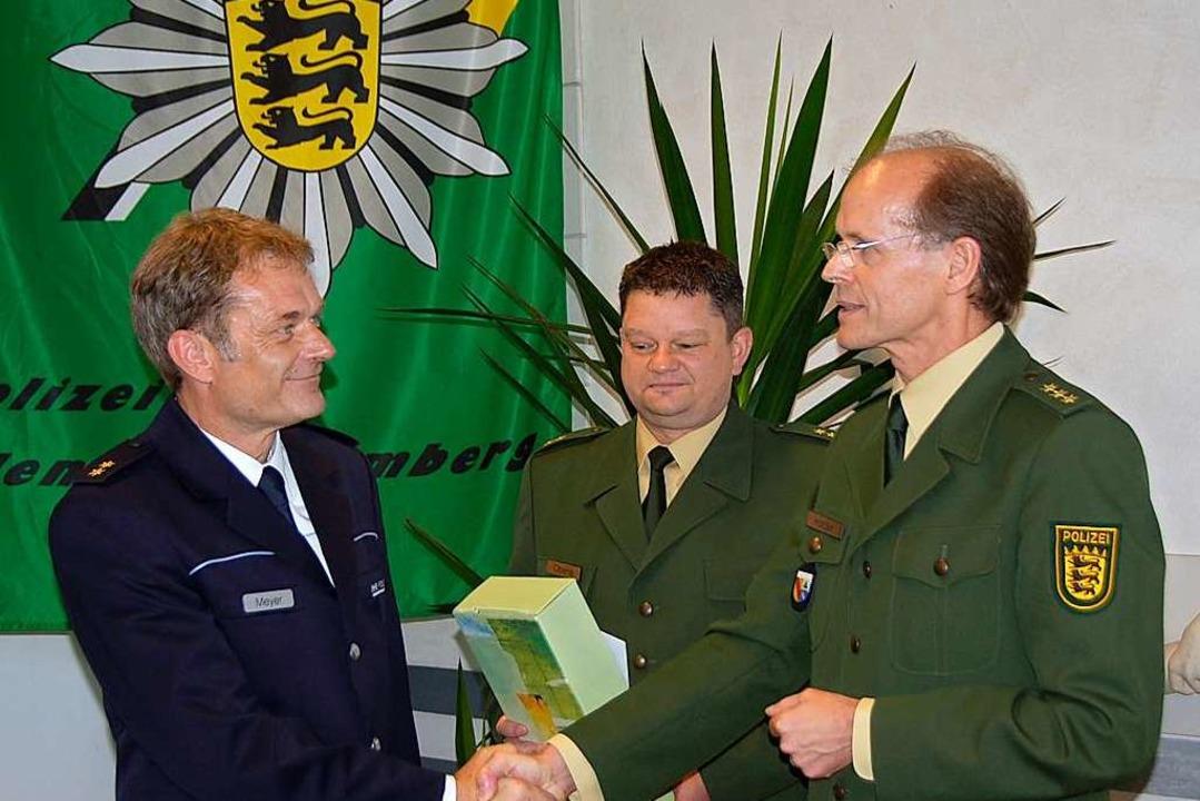 Meyer (links) übernahm das Revier im Jahr 2009.    Foto: Gerhard Walser