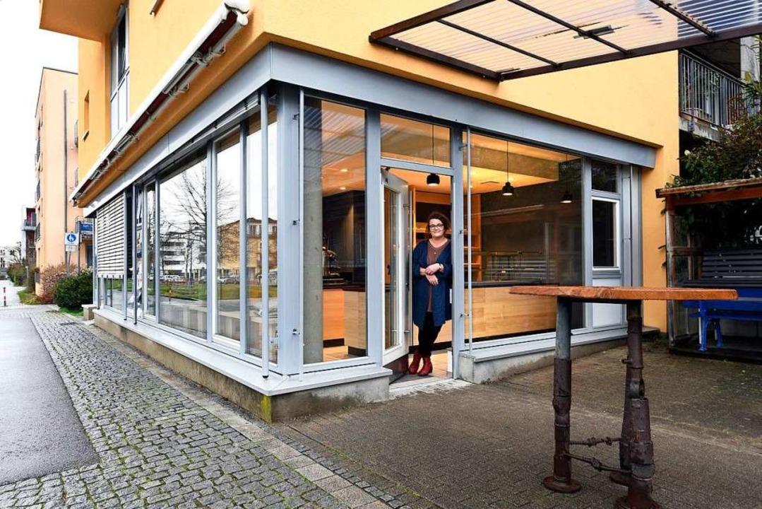 Ab nächster Woche bietet Christina Kon...er Vaubanallee ein Café mit Backwaren.    Foto: Thomas Kunz