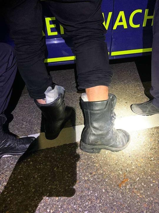 Amphetamine im Schuh  | Foto: EVZ