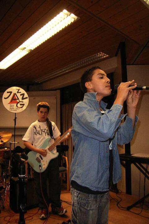 2006 als Bandleader der jungen Jazzformation am HTG  | Foto: Jo Högg
