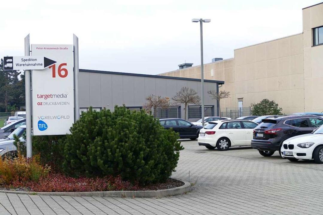 Die verschiedenen Unternehmen der Medw...-Straße3 im Gewerbegebiet Schildgasse.  | Foto: Ingrid Böhm