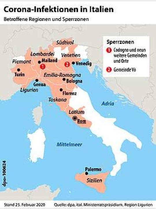 Corona Erreger Breitet Sich In Italien Aus Panorama Badische