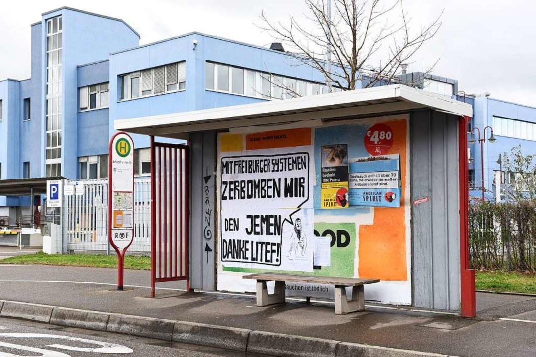 An der Schopfheimerstraße kritisierte ...r Firma Litef in Freiburg-St. Georgen.  | Foto: Rita Eggstein