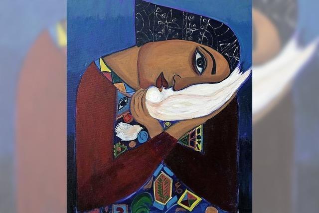 Die VHS stellt Malereien einer Künstlerin aus Gaza aus
