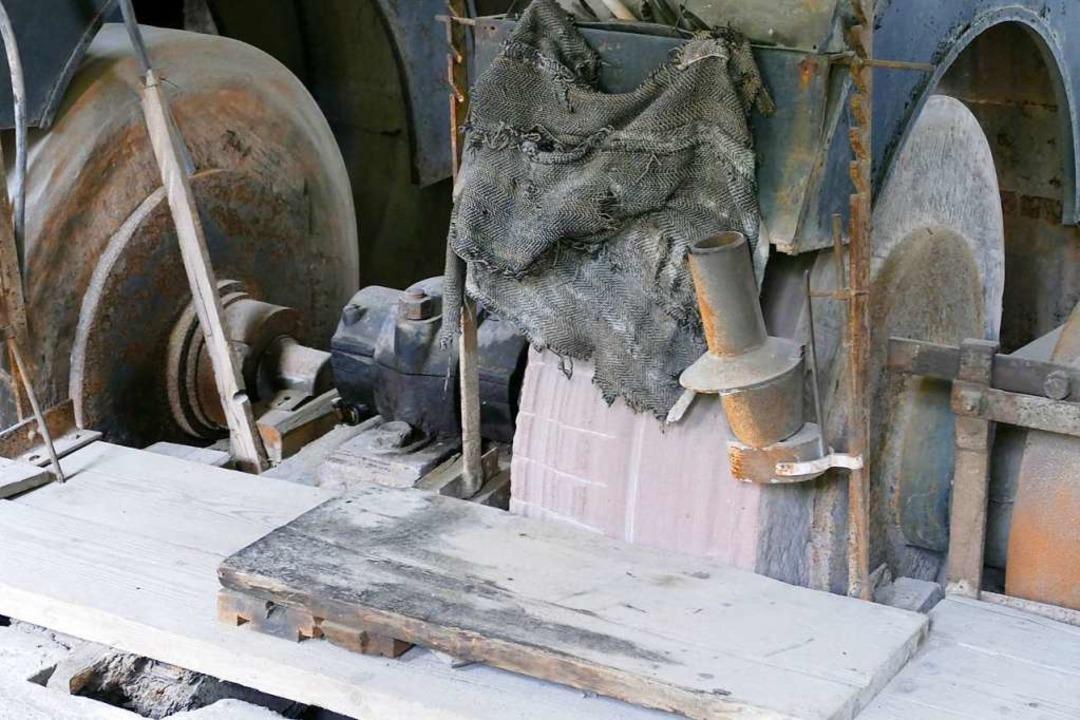 Die Ausstattung der Historischen Edelsteinschleiferei hat Seltenheitswert.    Foto: Sylvia Sredniawa