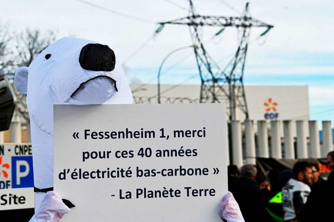 Am Freitag findet in Müllheim ein Konz...tatt zur Stilllegung von Fessenheim 1.  | Foto: SEBASTIEN BOZON (AFP)