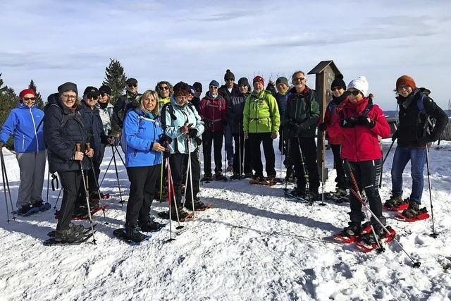 Tolle Tour auf Schneeschuhen