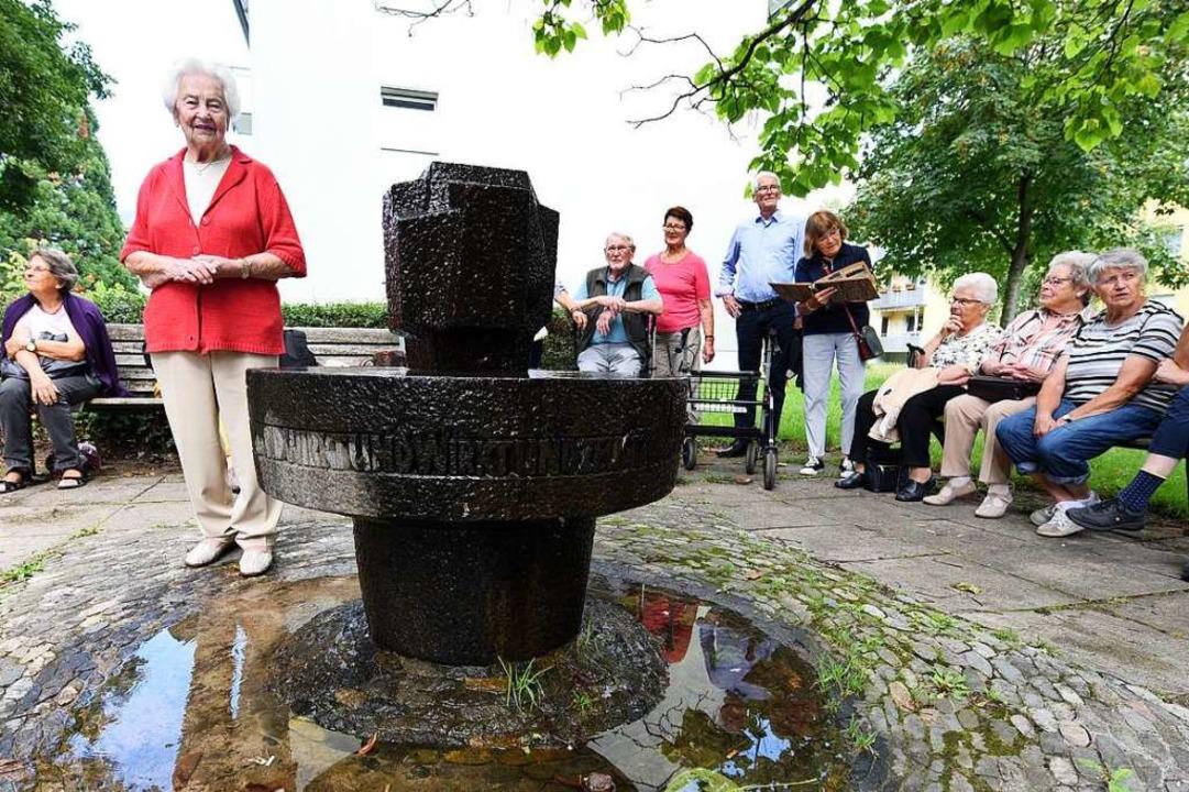 Margarete Hartmann am nach ihr benannt...nd sich für ihren Stadtteil engagiert.    Foto: Rita Eggstein