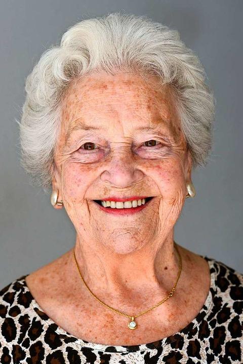 Margarete Hartmann, hier im Alter von ...nd viele andere Mitmenschen gekümmert.    Foto: Ingo Schneider