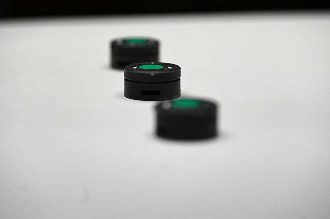 Detektoren messen die Radonkonzentration.  | Foto: Jonas Hirt
