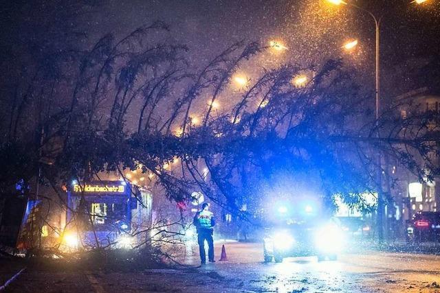 Sturm beeinträchtigt den Zugverkehr auf der Rheintalbahn