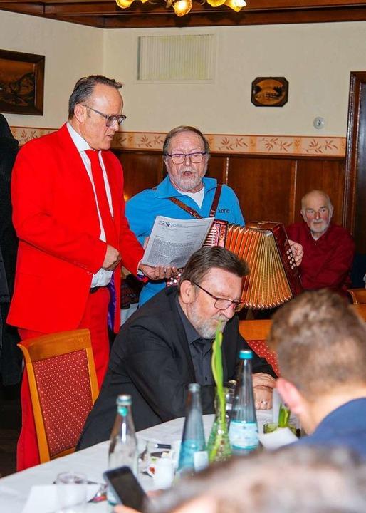 Karl-Rainer Kopf (links) im Duett mit Wolfgang Mießmer.  | Foto: Olaf Michel
